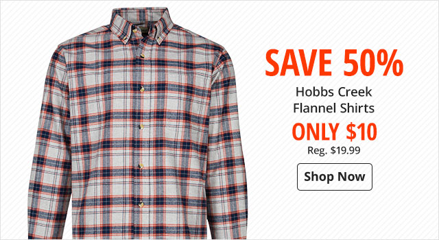 Save 50% on Hobbs Creek Flannel Shirts - Shop Now