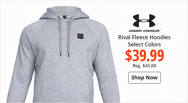 Under Armour Rival Fleece Hoodie $39.99 - Shop Now