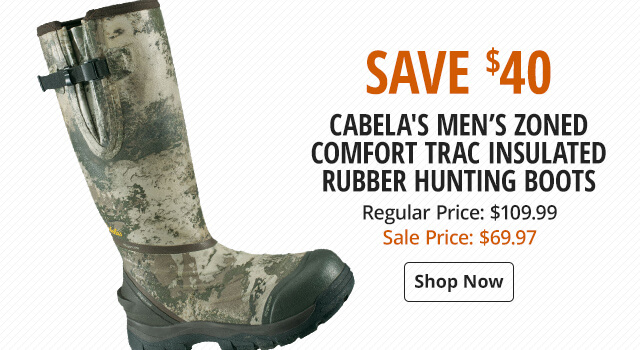 Cabela's Zoned Comfort Trac Insulated Rubber Hunting Boots for Men