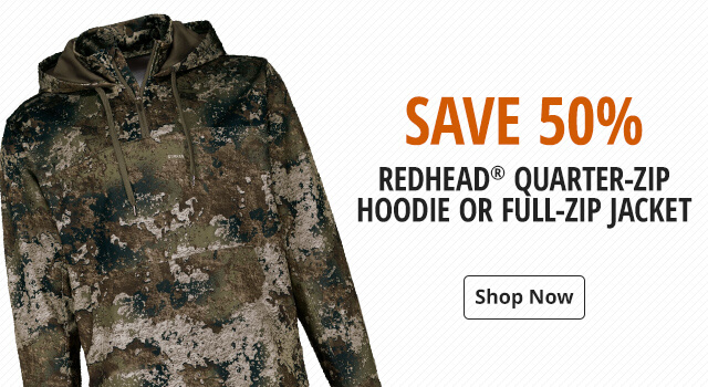 RedHead Quarter-Zip Hoodie or Full-Zip Jacket