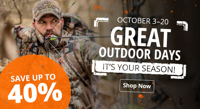 Great Outdoor Days - Save up to 40%