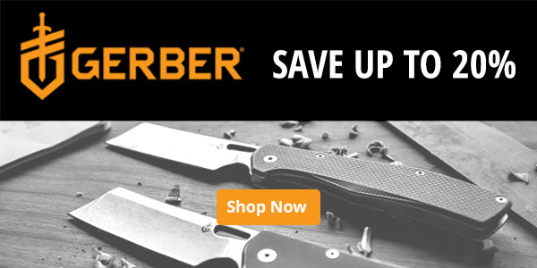 Gerber Knives, up to 20% off - More Info