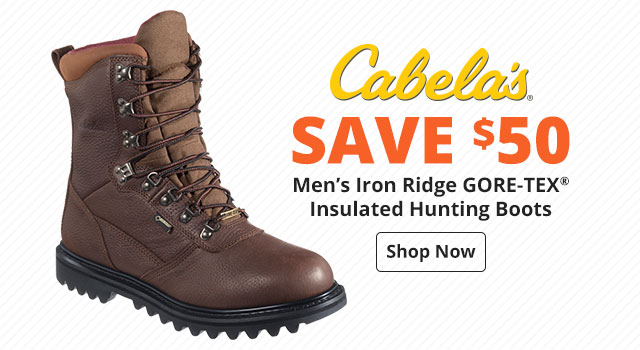 Save $50 on Cabela's Iron Ridge GORE-TEX Insulated Hunting Boots for Men