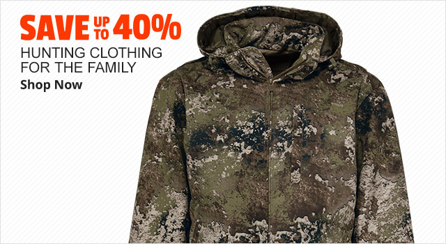 Save up to 40% on Hunting Clothing for the Family - Shop Now