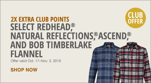 25% Extra Club Points on Select Flannel - Shop Now