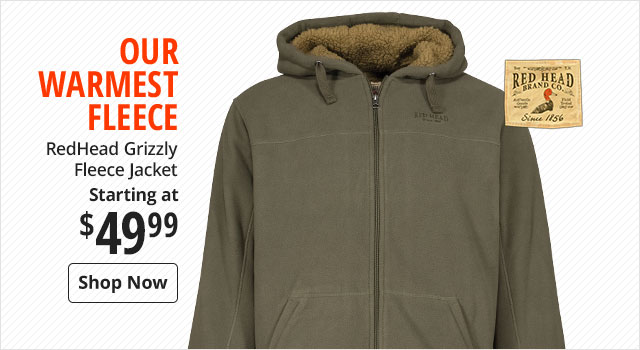 RedHead Grizzly Fleece Jacket starting at $49.99 - Shop Now