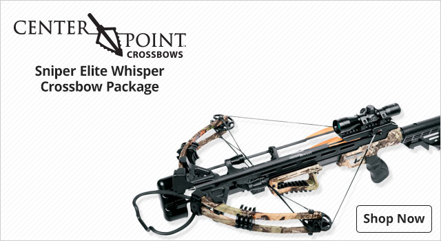 CenterPoint Sniper Elite Whisper Crossbow Package - Shop Now