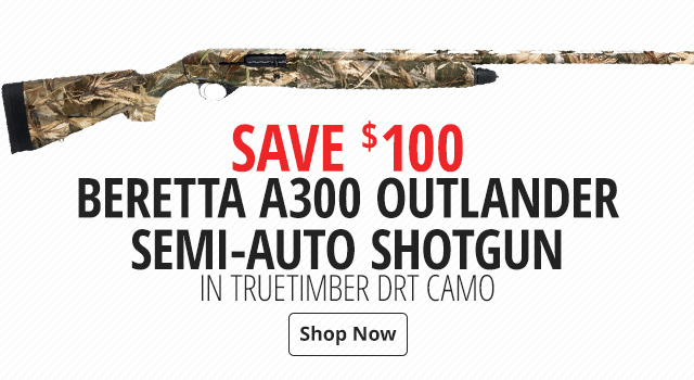 Beretta A300 Outlander Semi-Auto Shotgun in TrueTimber DRT Camo - Shop Now