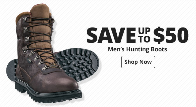Save up to $50 on Men's hunting boots