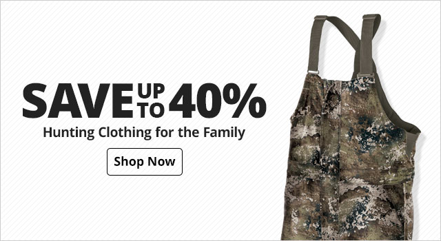 Save up to 40% on  Hunting Clothing for the family