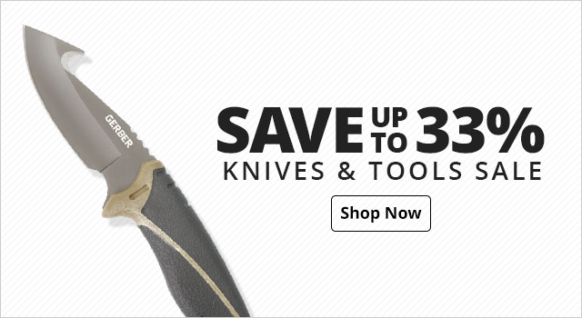 Save up to 33% on Knives & Tools Sale