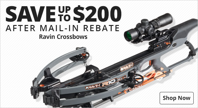 Save up to $200 After MIR on Ravin Crossbows