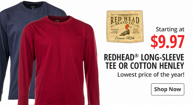 RedHead Long-Sleeve or Henley - Shop Now