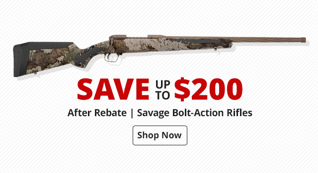 Save up to $200 on Savage Bolt-Action Rifle