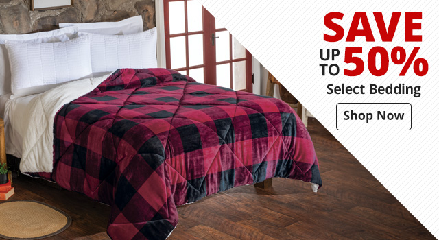 Save up to 50% on Select Bedding