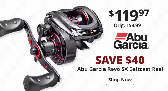Save $60 on Abu Garcia Revo SX Baitcast Reel