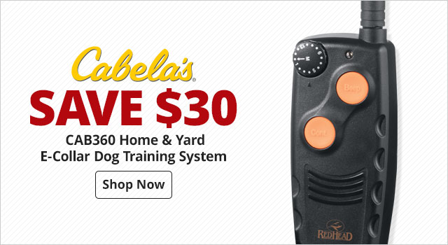 Cabela's CAB360 Home and Yard E-Collar Dog Training System - Shop Now
