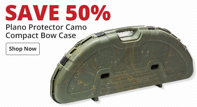 Save 50% on Plano Protector Camo Compact Bow Case