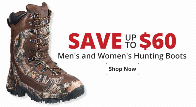 Save up to $60 on Men's and Women's Hunting Boots