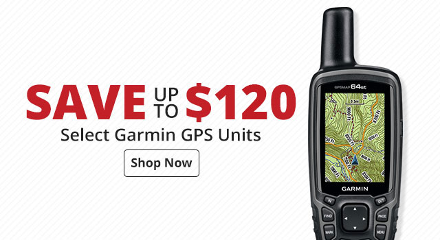 Save up to $170 Select Garmin GPS Units