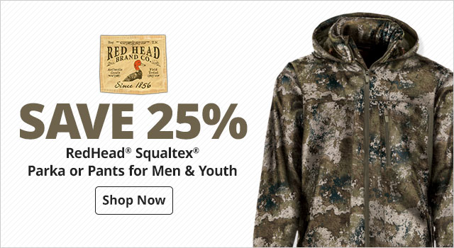 save 25% RedHead® Squaltex® Parka or Pants for Men & youth - Shop Now