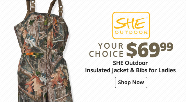 SHE Outdoor Insulated Jacket & Bibs for Ladies - Shop Now