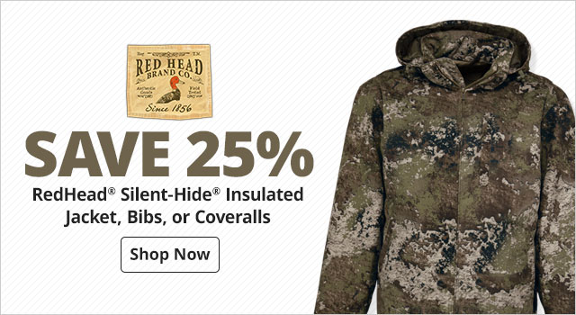 save 25% RedHead® Silent-Hide® Insulated Jacket, Bibs, or Coveralls