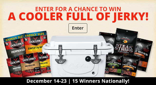 Enter for a Chance to WIN a Cooler Full of Jerky!