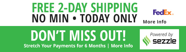 Stretch Your Payments for 6 Months and Free shipping today only