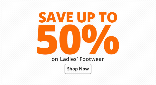 Save up to 50% on Ladies' Casual Footwear