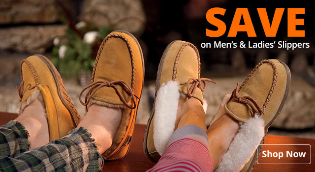 Save on Men's & Ladies' Slippers