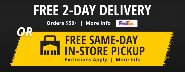 Free 2-Day Delivery and Free Same-Day In-Store Pickup