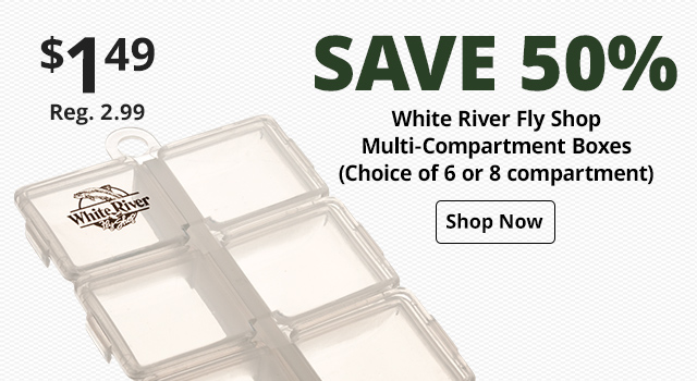 White River Fly Shop Multi-Compartment Boxes