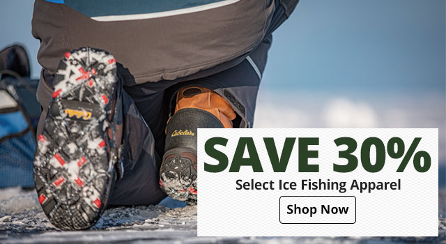 30% off Select Ice Fishing Apparel