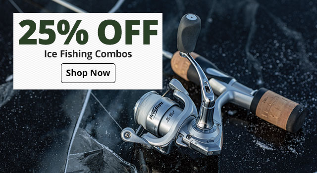 25% off Ice Fishing Combos