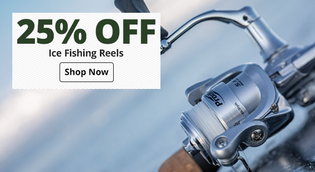 25% Off Ice Fishing Reels