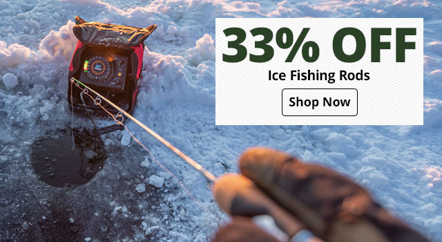33% off Ice Fishing Rods