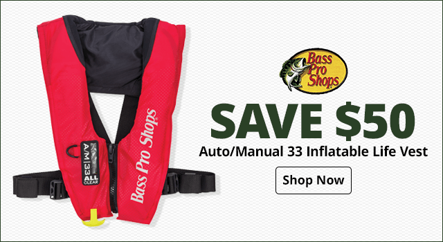 Bass Pro Shops Auto/Manual 33 Inflatable Life Vest - Shop Now