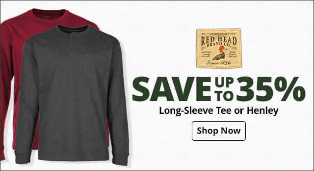 RedHead Long-Sleeve Tee or Cotton Henley - Shop Now