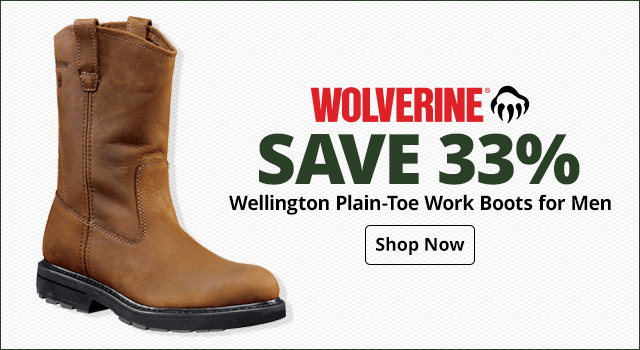 Wolverine Wellington Plain-Toe Work Boots for Men - Shop Now