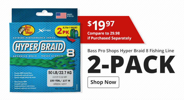 Bass Pro Shops Hyper Braid 8 Fishing Line 2-Pack