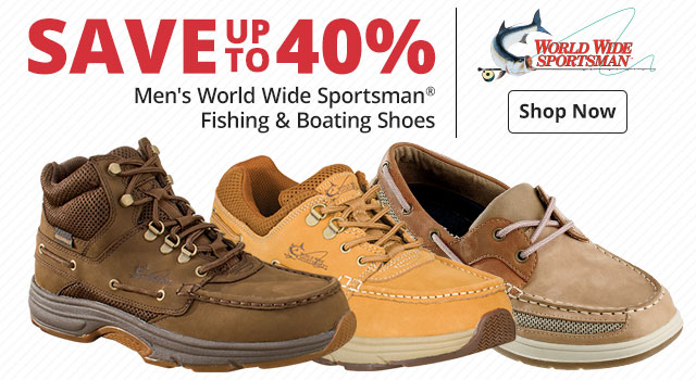 Save up to 40% Men's World Wide Sportsman® Fishing & Boating Shoes