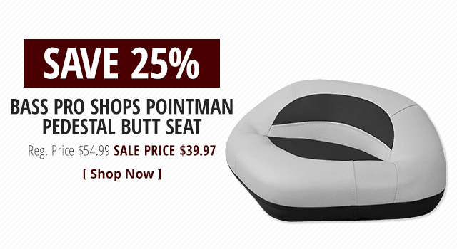 Bass Pro Shops Pointman Pedestal Butt Seat - Shop Now