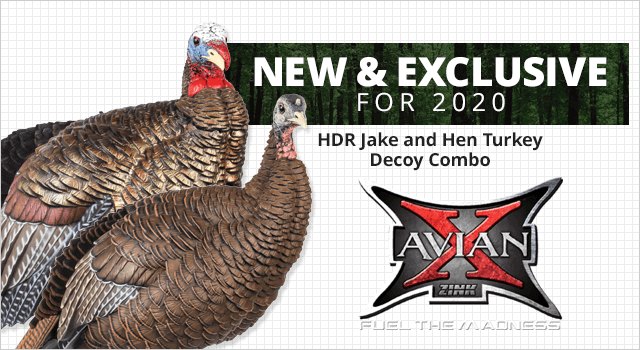 Avian-X HDR Jake and Hen Turkey Decoy Combo
