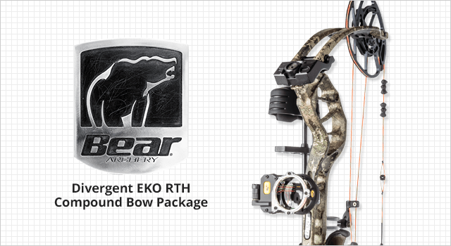 Bear Archery Divergent EKO RTH Compound Bow Package