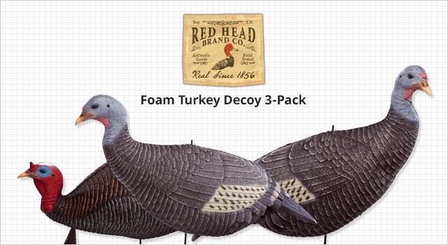 RedHead® Foam Turkey Decoy 3-Pack - Shop Now