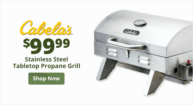 Cabela's Stainless Steel Tabletop Propane Grill	 - Shop Now