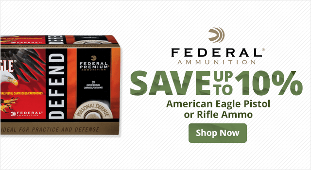 Federal American Eagle Pistol or Rifle Ammo - Shop Now