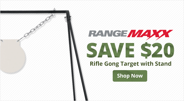 RangeMaxx Rifle Gong Target with Stand - Shop Now