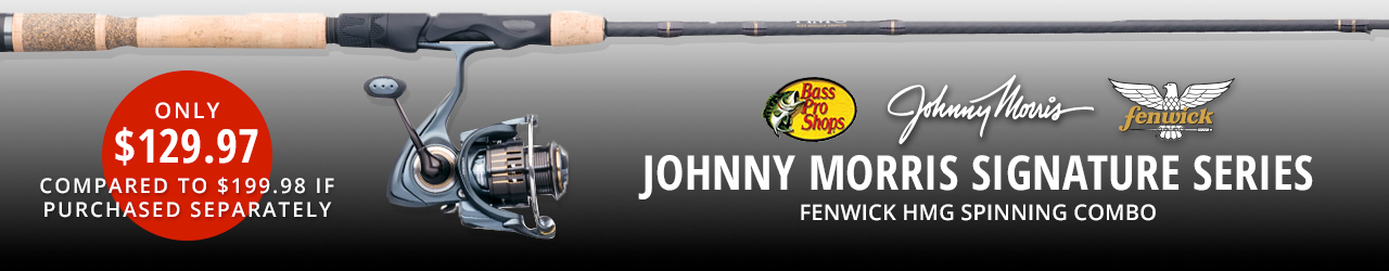 Johnny Morris Signature Series Fenwick HMG Spinning Combo